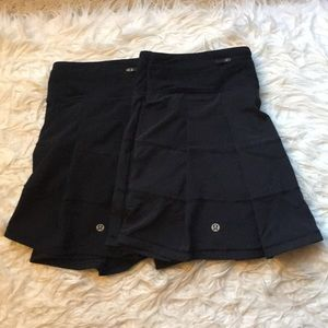 2 Lululemon Pleated Tennis Skirts- Size 6 T